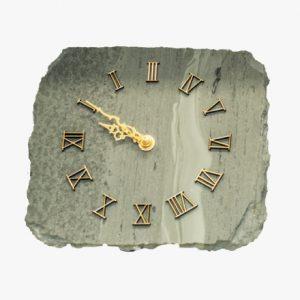 Polished-greenslate-Wall-Clock